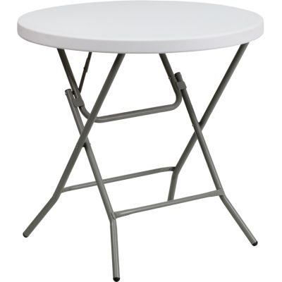 FHFDADYCZ80RGWGG - Flash Furniture White Plastic folding table