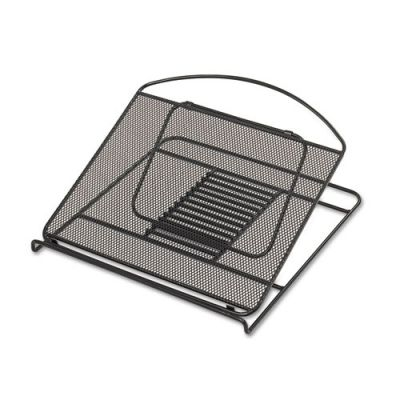 SAF2161BL - Safco Onyx Adjustable Steel Mesh Laptop Stand; 12 1\/4 x 12 1\/4 x 1; Black