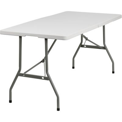 FHFRB3060FHGG - Flash Furniture White Plastic folding table