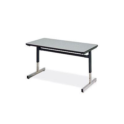 VIR872436084 - 8700 Series Rectangular Activity Table; 24 x 36 x 22 to 30h; Medium Oak Finish