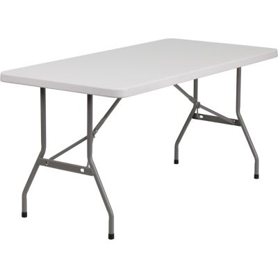 FHFRB3060GG - Flash Furniture White Plastic folding table