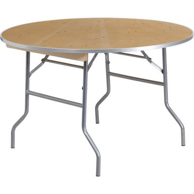 FHFXA48BIRCHMGG - Flash Furniture Unfinished Wood folding table