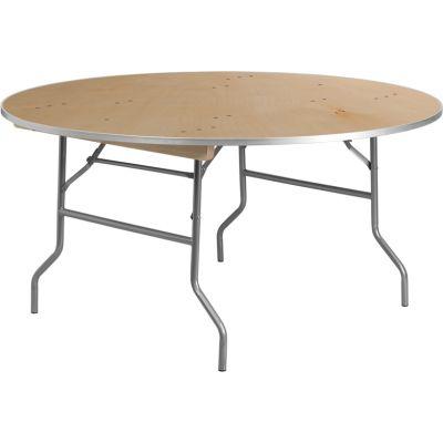 FHFXA60BIRCHMGG - Flash Furniture Unfinished Wood folding table