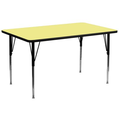 FHFXUA3072RECYELTAGG - Flash Furniture 30 x 72 activity table