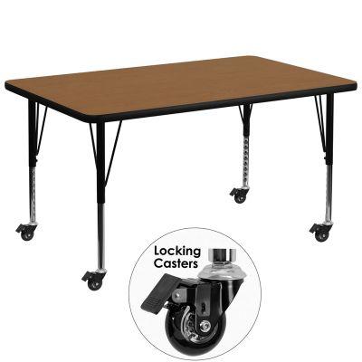 FHFXUA3672RECOAKTPCASGG - Flash Furniture Oak preschool activity table