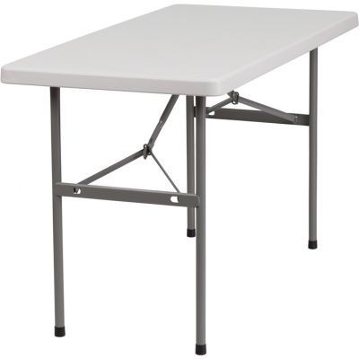 FHFRB2448GG - Flash Furniture White Plastic folding table