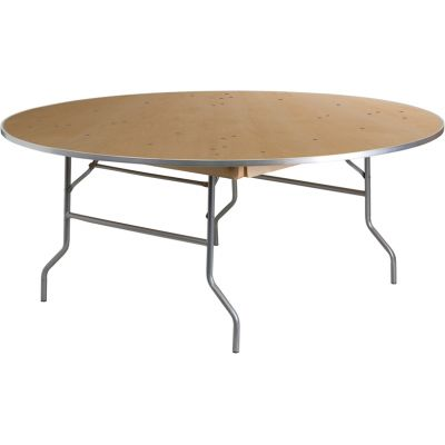FHFXA72BIRCHMGG - Flash Furniture Unfinished Wood folding table