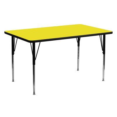 FHFXUA2460RECYELHAGG - Flash Furniture 24 x 60 activity table