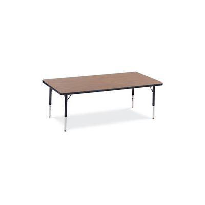 VIR4L306009140 - Primary Collection Rectangular Activity Table; 30 x 60; Gray Nebula/Blueberry