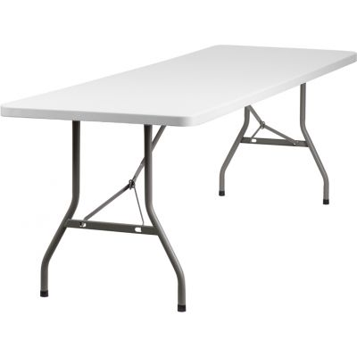 FHFRB3096GG - Flash Furniture White Plastic folding table