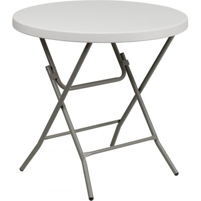FHFRB32RGWGG - Flash Furniture 32'' Round Granite White Plastic Folding Table (RB-32R-GW-GG)