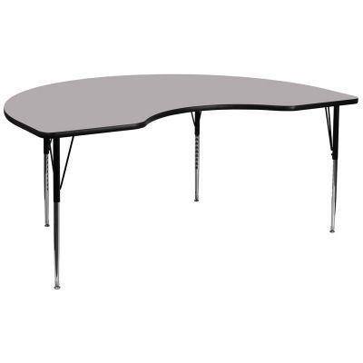 FHFXUA4896KIDNYGYTAGG - Flash Furniture Gray kidney activity table