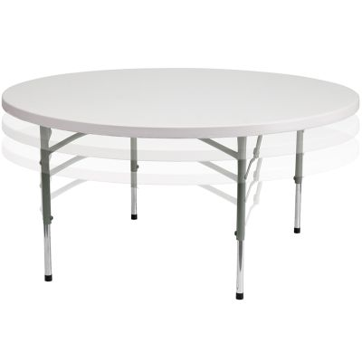FHFRB60ADJUSTABLEGG - Flash Furniture White Plastic folding table