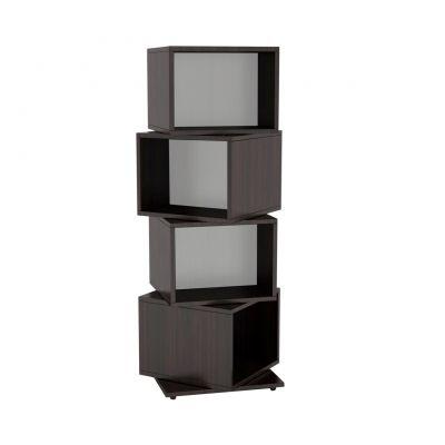 IGRMRC2841 - Atlantic Rotating Cube 216 Disc Media Tower In Espresso