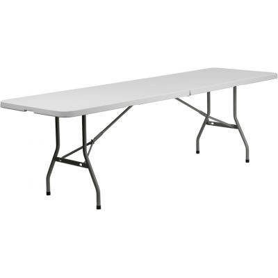 FHFRB3096FHGG - Flash Furniture White Plastic folding table