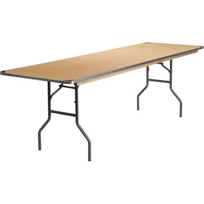 FHFXA3096BIRCHMGG - Flash Furniture Unfinished Wood folding table