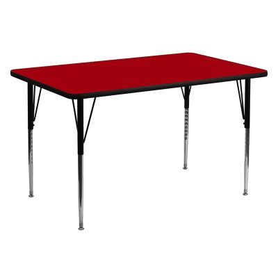 FHFXUA3060RECREDTAGG - Flash Furniture 30 x 60 activity table