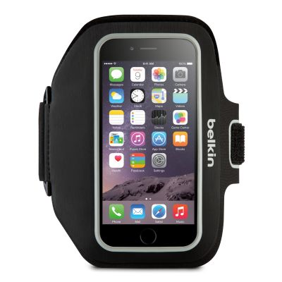 SYNX4149307 - Belkin Sport-Fit Plus Carrying Case (Armband) for iPhone; Money; Key; Accessories - Black