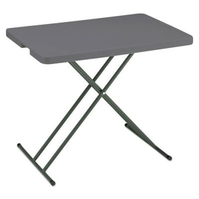ICE65491 - Iceberg IndestrucTables Too 1200 Series Resin Personal Folding Table; 30 x 20; Charcoal