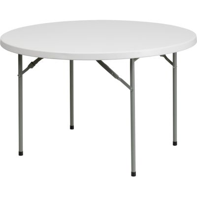FHFRB48RGG - Flash Furniture White Plastic folding table