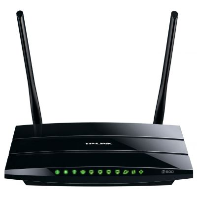 SYNX3376710 - TP-LINK TL-WDR3500 Wireless N600 Dual Band Router; 2.4GHz 300Mbps+5Ghz 300Mbps; USB port; IP QoS; Wireless On/Off Switch
