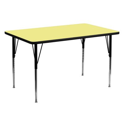 FHFXUA3060RECYELTAGG - Flash Furniture 30 x 60 activity table
