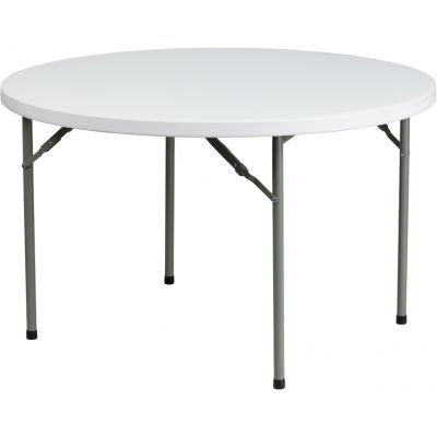 FHFDADYCZ122RGG - Flash Furniture White Plastic folding table