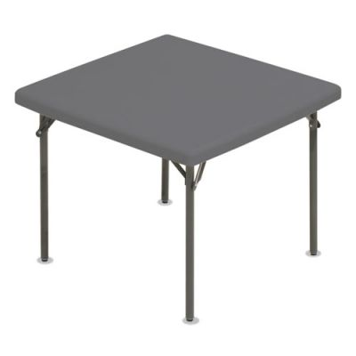 ICE65277 - Iceberg IndestrucTables Too 1200 Series Resin Folding Table; 37w x 37d x 29h; Charcoal