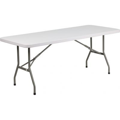 FHFDADYCZ183BGWGG - Flash Furniture White Plastic folding table
