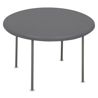 ICE65267 - Iceberg IndestrucTables Too 1200 Series Resin Folding Table; 60 dia x 29h; Charcoal