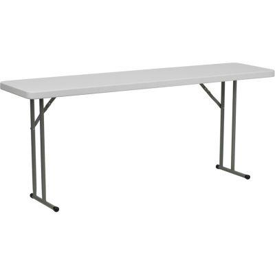 FHFDADYCZ180GWGG - Flash Furniture White Plastic folding table