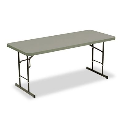 ICE65627 - Iceberg IndestrucTable Too Adjustable Height Rectangular Folding Table