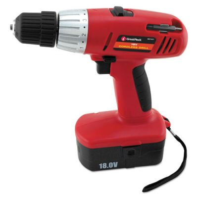 GNS80167 - Great Neck 18 Volt 2 Speed Cordless Drill; 3\/8'' Keyless Chuck