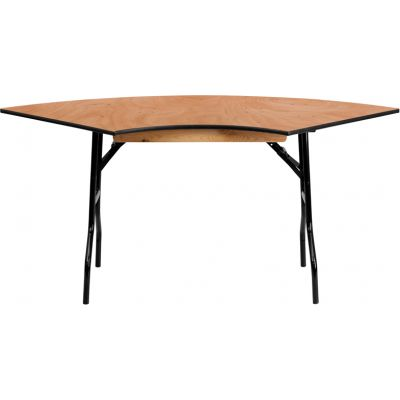 FHFYTWSFT4830SPGG - Flash Furniture Natural Wood folding table