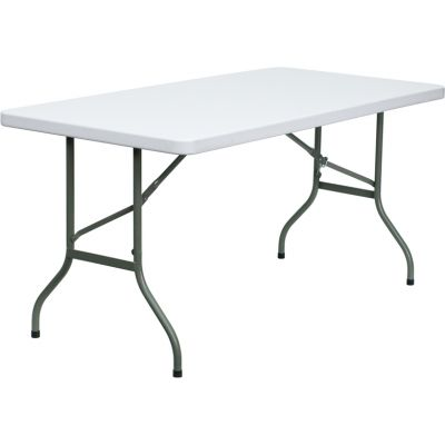 FHFDADYCZ152GG - Flash Furniture White Plastic folding table