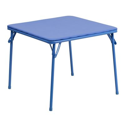 FHFJBTABLEGG - Flash Furniture Blue folding table set