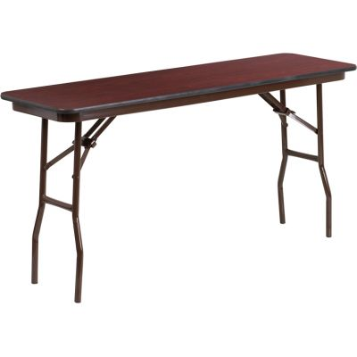 FHFYT1860MELWALGG - Flash Furniture 18 x 60 Walnut Folding Table