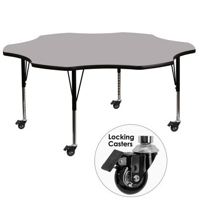 FHFXUA60FLRGYTPCASGG - Flash Furniture Gray preschool activity table