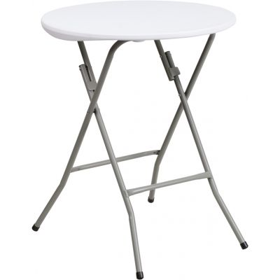 FHFDADYCZ80R1SMGWGG - Flash Furniture White Plastic folding table
