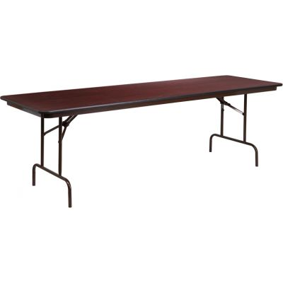 FHFYT3096MELWALGG - Flash Furniture 30 x 96 Walnut Folding Table
