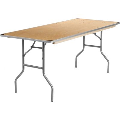 FHFXA3072BIRCHMGG - Flash Furniture Unfinished Wood folding table
