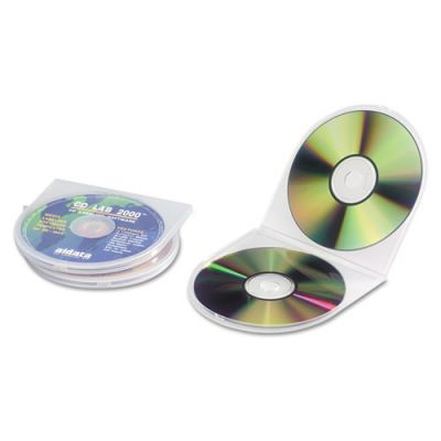 IVR87925 - Innovera CD\/DVD Storage Cases Polypropylene Sea Shell Case; Clear; 25\/pk