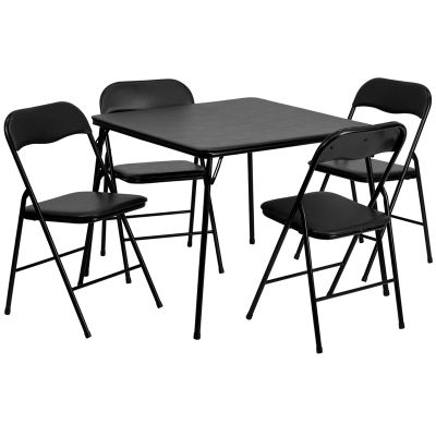 FHFJB1GG - Flash Furniture Black folding table set