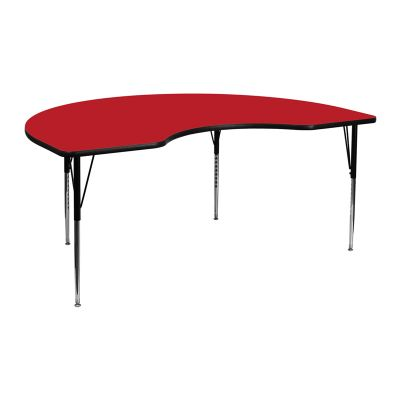 FHFXUA4872KIDNYREDHAGG - Flash Furniture Red kidney activity table
