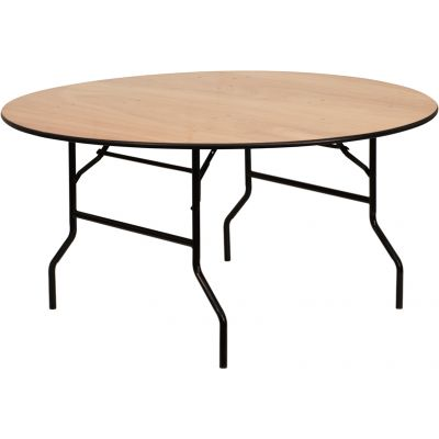 FHFYTWRFT60TBLGG - Flash Furniture Natural Wood folding table