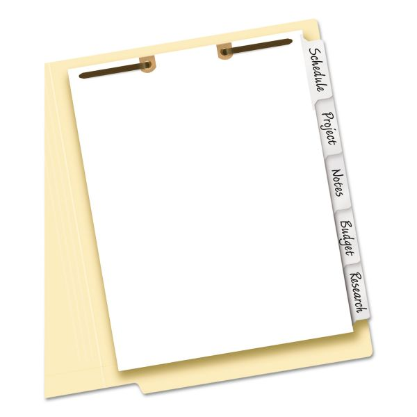 Avery Write & Erase Tab Dividers for Classification Folders