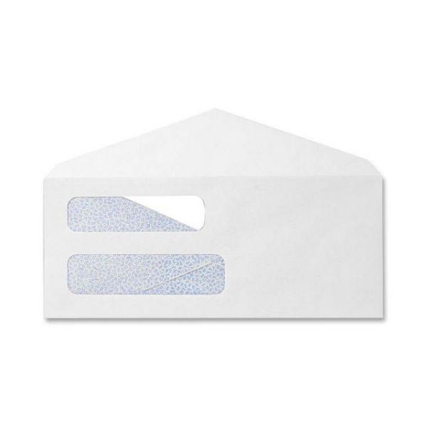 Sparco Double Window White Wove Envelopes