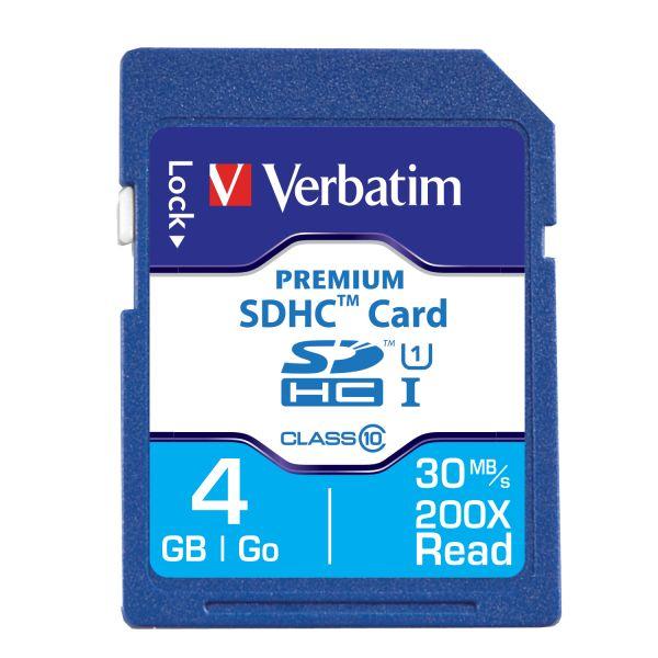 Verbatim 4GB Premium SDHC Memory Card, UHS-I Class 10