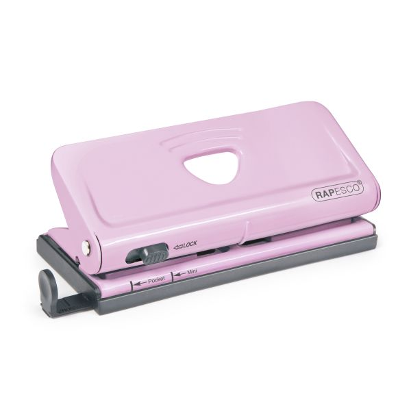 Rapesco Adjustable 6-Hole Organizer/ Diary Punch (Pink)