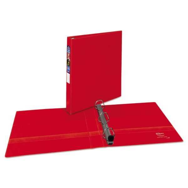 "Avery Heavy-Duty 3-Ring Binder with One Touch EZD Rings, 1"" Capacity, Red"